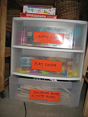 Organized Crafty Stuff for the Girls