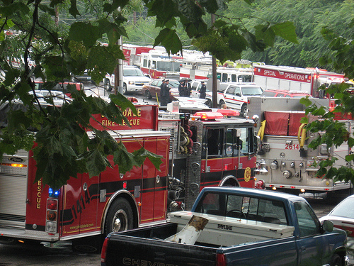 Procession of Fire Trucks